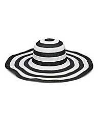 Black And White Stripe Floppy Hat