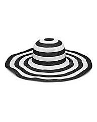Black And White Stripe Floppy Hat