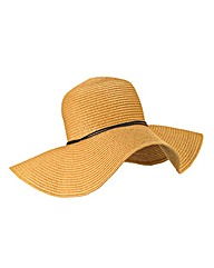 Natural Straw Hat With Tie