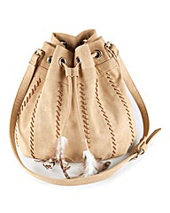 Duffle Bag With Feathers