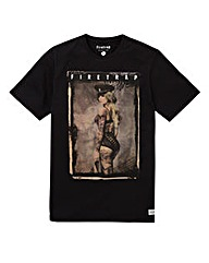 Firetrap Black Linton T-Shirt Long