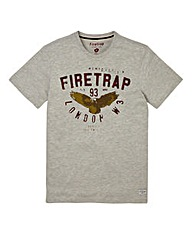 Firetrap Grey Hans T-Shirt Long