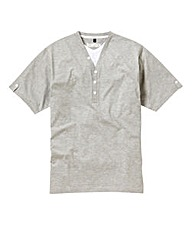 Jacamo Grey Marl Layered T-Shirt Regular