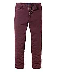 Jacamo Wine Gaberdine Mens Jeans 33 In
