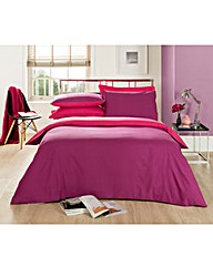 Plain Dye Reversible Duvet Cover Set