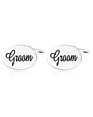 Gents Oval Groom Cufflinks