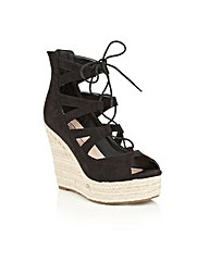 Dolcis Hilary lace up wedge sandals