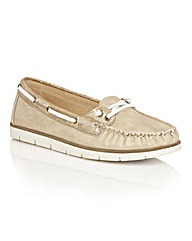 Dolcis Shawn lace detail slip on loafers
