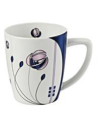 Rose Mug Blue