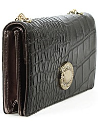 Versace Jeans Black Reptile Chain Purse