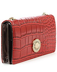 Versace Jeans Red Reptile Chain Purse