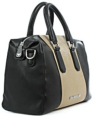 Armani Jeans Black Two Tone Bowler Bag