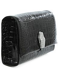 Class Cavalli Black Shoulder Bag