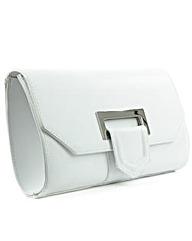 Daniel Summery White Suede Clutch Bag