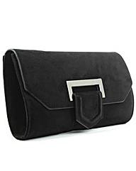 Daniel Summery Black Suede Clutch Bag