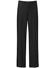 Prem Man Plain Front Poly Trouser 27in