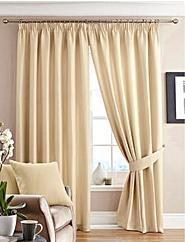 Alice Waffle Plain Dye Lined Curtains