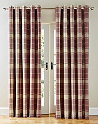 Highland Check Heavyweight Lined Curtain