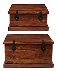 Jaipur Set of 2 Storage Boxes