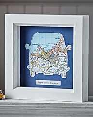 Personalised Framed Map Camper Van