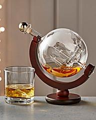 World Globe & Galleon Decanter