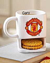 Personalised Football Team Biscuit Mug