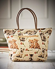 Tapestry Style Cat Design Bag