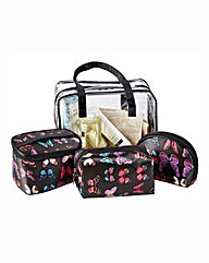 Butterfly Cosmetic Bag Set
