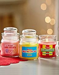 Swizzles Jar Candle - Set of 3