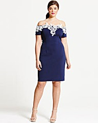 Paper Dolls Navy Applique Dress
