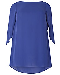 emily Angel Sleeve Blouse Top
