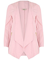 emily Waterfall Zip Detail Jacket