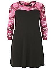 emily Lace Fog Foil dress