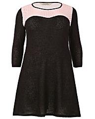 emily PU Knitted Dress