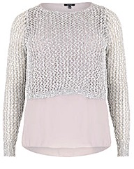 Samya Sequin Sheer Hem Jumper