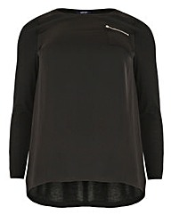 Samya Zip Detail Top