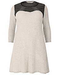 emily PU Knitted Dress
