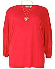 emily Oversize Jersey Batwing Top