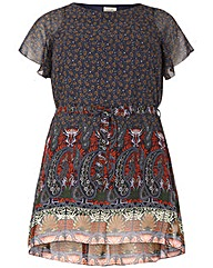 emily Border Print Dress