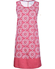 Brakeburn Coral Tile Print Dress