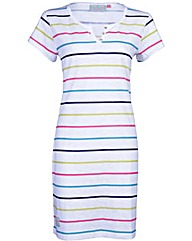 Brakeburn Multi Stripe Notch Dress