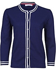 Brakeburn Classic Knitted Navy Cardigan