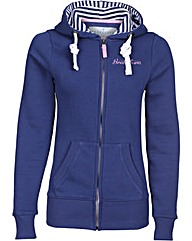 Brakeburn Striped Zip Through Hood