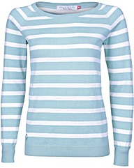 Brakeburn Green Stripe Knitted Jumper