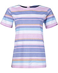 Brakeburn Multi Stripe Woven Top
