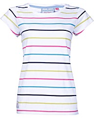 Brakeburn Multi Stripe Scoop Neck Tee