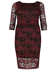 Feverfish Two Tone Lace Dress