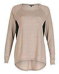 Samya Lace Panel Jersey Top