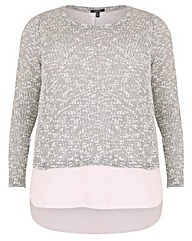 Samya Knit Layered Top