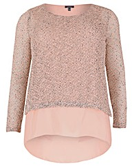 Samya Knitted Sequins Layered Top